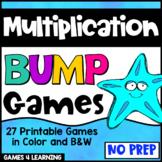 Multiplication Games: 27 Printable Multiplication Bump Gam
