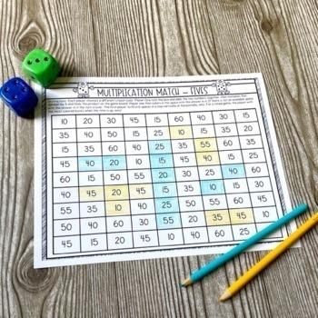 Multiplication Games Printable