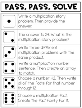Multiplication Games Just Add Dice