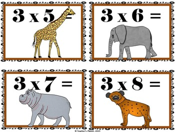 Multiplication Games- Multipication Concentration - Animal Habitats!