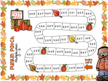 Multiplication Games - NO PREP - Fall & Halloween - {3rd & 4th Grade}