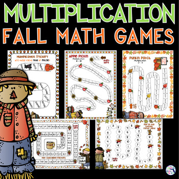 Multiplication Games - Fall & Halloween - NO PREP