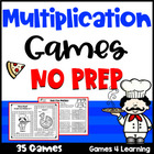 Multiplication Games NO PREP Math Games for Multiplication Facts