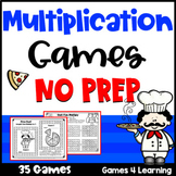 NO PREP Multiplication Games: Multiplication Fact Fluency Distance Learning Math