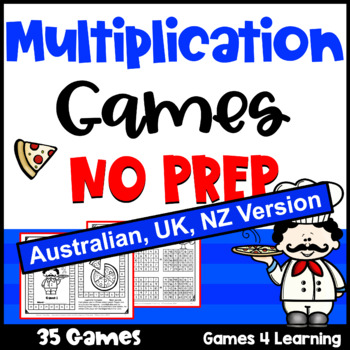 Multiplication Games NO PREP for Multiplication Facts [AUST UK NZ CAN Edition]