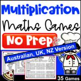 Multiplication Activity - NO PREP Maths Games [AUST UK NZ CAN Edition]