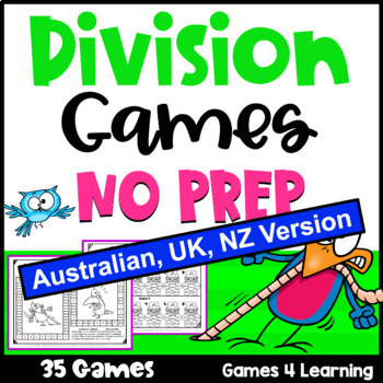 Division Games NO PREP for Division Facts [AUST UK NZ CAN Edition]