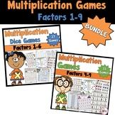 Multiplication Games Bundled using Factors 1-9
