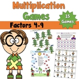 Multiplication Card Games using Factors 4 to 9