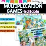 Multiplication Games pack- editable