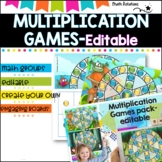 Multiplication Games pack- editable