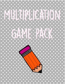 Multiplication Games Packet