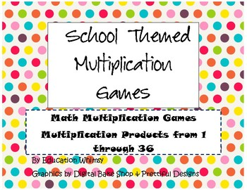 Multiplication Games (Products up to 36)