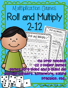 Multiplication Games Roll and Multiply