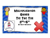 Multiplication Games Tic Tac Toe