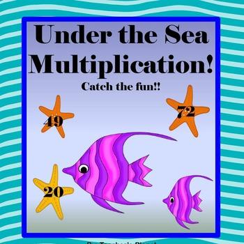 Multiplication Games- Under the Sea Multiplication