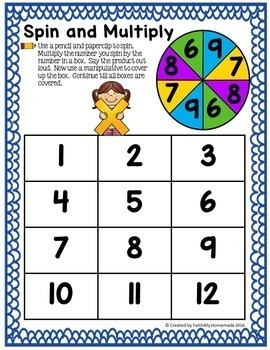 Multiplication Games and Activities
