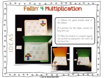 Multiplication Games and Activities 3rd Grade - Fall Edition