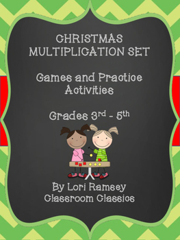 Multiplication Games and Activities for Christmas