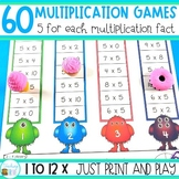 Multiplication Games for each Multiplication Fact - 60 games