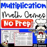 Multiplication Games for Fact Fluency: NO PREP Math Games: Printable & Digital