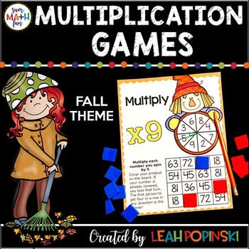 Fall Activities - Multiplication Games for Multiplication Fact Fluency