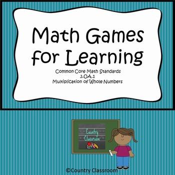 Multiplication Games for Learning 3.OA.1
