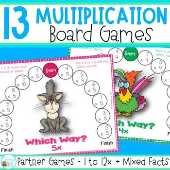 Multiplication Games - games for 2 players