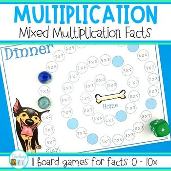 Multiplication Games - mixed multiplication facts practice by ...
