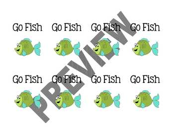 Multiplication Go Fish - 10's Facts