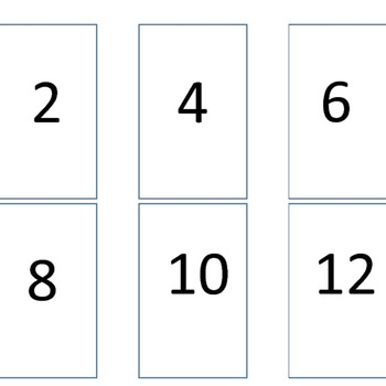 Multiplication Go Fish 2s Times Tables