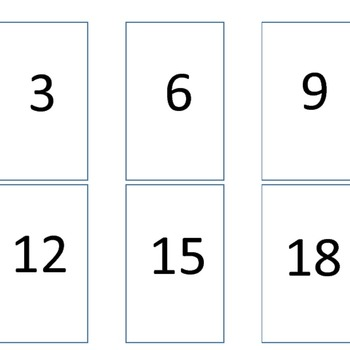 Multiplication Go Fish 3s Times Tables