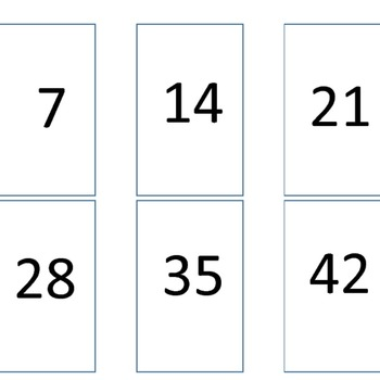 Multiplication Go Fish 7s Times Tables
