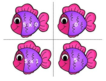 Multiplication Go Fish 9's - Print, cut, and play