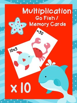 Multiplication Go Fish Cards: x10