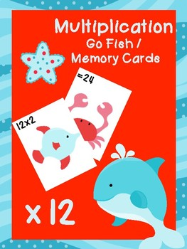 Multiplication Go Fish Cards: x12