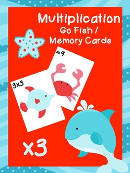 Multiplication Go Fish Cards: x3