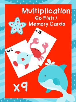 Multiplication Go Fish Cards: x9