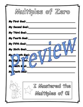Multiplication Goal Book (Fact Fluency, Student Goal Setting, Graphing Scores)