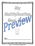 Multiplication Goal Book (Fact Fluency, Student Goal Setti