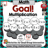 Multiplication- Goal! Hockey Themed Multiplication
