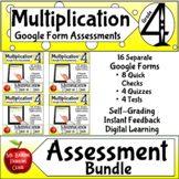 Multiplication Google Form Assessments 4th grade Math Dist