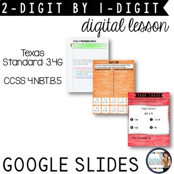 Multiplication Digital Interactive Lesson {2-digit times 1-digit}