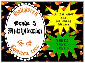 Multiplication Grade 5 - Halloween