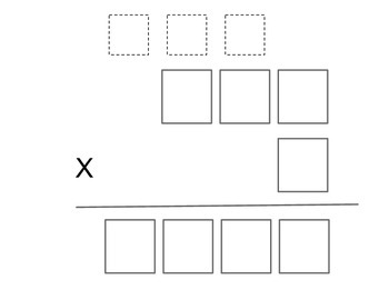 Multiplication Graphic Organizer 3 & 4 x1 digit numbers
