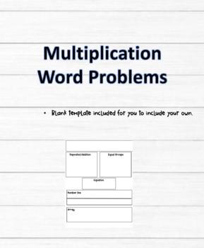 Multiplication Graphic Organizer
