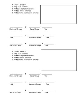 Multiplication Graphic Organizer Grade 3 Module 1 Lesson 7 Guided Notes