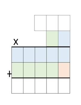 Multiplication Graphic Organizer and Interactive Notebook Page