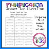 Multiplication Greater Than & Less Than Fact Practice