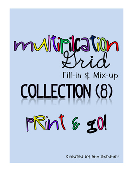 Multiplication Grid Collection - 8 Grids!  Mix it up!!